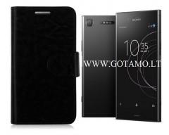 Diary Mate dėklas Sony Xperia XZ1 mobiliesiems telefonams juodos spalvos