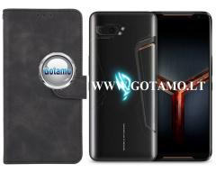Diary Mate2 dėklas Asus ROG Phone 2 mobiliesiems telefonams juodos spalvos