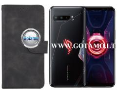 Diary Mate2 dėklas Asus ROG Phone 3 mobiliesiems telefonams juodos spalvos