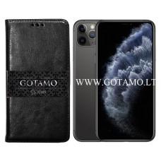 Gotamo D-gravity natūralios odos dėklas Apple iPhone 11 Pro Max mobiliesiems telefonams juodos spalvos Šiauliai | Palanga | Telšiai