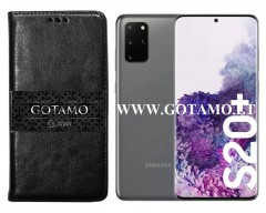 Gotamo D-gravity natūralios odos dėklas Samsung Galaxy S20+ mobiliesiems telefonams juodos spalvos