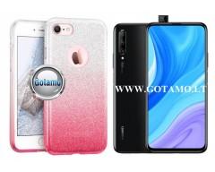 iLLuminaTe silikoninis dėklas nugarėlė Huawei P Smart Pro (2019) Huawei Y9 Prime telefonams rožinės spalvos