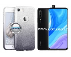 iLLuminaTe silikoninis dėklas nugarėlė Huawei P Smart Pro (2019) Huawei Y9 Prime telefonams sidabro spalvos
