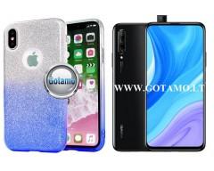 iLLuminaTe silikoninis dėklas nugarėlė Huawei P Smart Pro (2019) Huawei Y9 Prime telefonams žydros spalvos