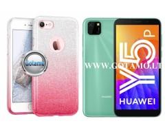 iLLuminaTe silikoninis dėklas nugarėlė Huawei Y5p telefonams rožinės spalvos