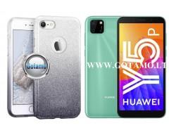 iLLuminaTe silikoninis dėklas nugarėlė Huawei Y5p telefonams sidabro spalvos