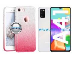 iLLuminaTe silikoninis dėklas nugarėlė Samsung Galaxy A41 telefonams rožinės spalvos