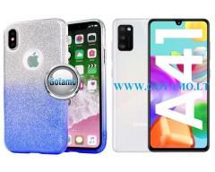 iLLuminaTe silikoninis dėklas nugarėlė Samsung Galaxy A41 telefonams žydros spalvos