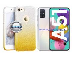 iLLuminaTe silikoninis dėklas nugarėlė Samsung Galaxy A51 telefonams aukso spalvos