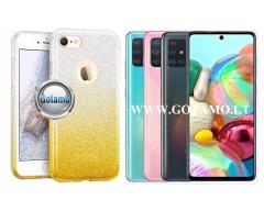 iLLuminaTe silikoninis dėklas nugarėlė Samsung Galaxy A71 telefonams aukso spalvos