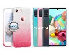 iLLuminaTe silikoninis dėklas nugarėlė Samsung Galaxy A71 telefonams rožinės spalvos