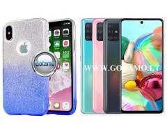 iLLuminaTe silikoninis dėklas nugarėlė Samsung Galaxy A71 telefonams žydros spalvos