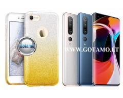 iLLuminaTe silikoninis dėklas nugarėlė Xiaomi Mi 10, Xiaomi Mi 10 Pro telefonams aukso spalvos