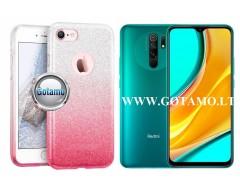 iLLuminaTe silikoninis dėklas nugarėlė Xiaomi Redmi 9 telefonams rožinės spalvos