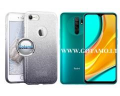 iLLuminaTe silikoninis dėklas nugarėlė Xiaomi Redmi 9 telefonams sidabro spalvos