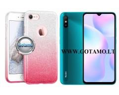 iLLuminaTe silikoninis dėklas nugarėlė Xiaomi Redmi 9A telefonams rožinės spalvos