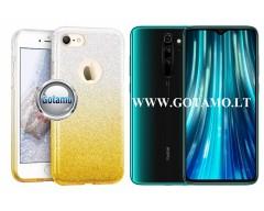 iLLuminaTe silikoninis dėklas nugarėlė Xiaomi Redmi Note 8 Pro telefonams aukso spalvos