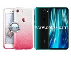 iLLuminaTe silikoninis dėklas nugarėlė Xiaomi Redmi Note 8 Pro telefonams rožinės spalvos