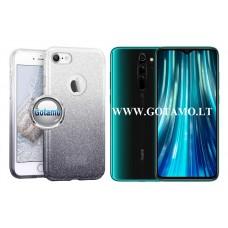 iLLuminaTe silikoninis dėklas nugarėlė Xiaomi Redmi Note 8 Pro telefonams sidabro spalvos Palanga | Vilnius | Klaipėda