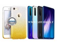 iLLuminaTe silikoninis dėklas nugarėlė Xiaomi Redmi Note 8 telefonams aukso spalvos