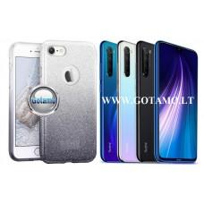 iLLuminaTe silikoninis dėklas nugarėlė Xiaomi Redmi Note 8 telefonams sidabro spalvos Telšiai | Vilnius | Palanga