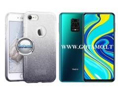iLLuminaTe silikoninis dėklas nugarėlė Xiaomi Redmi Note 9 Pro telefonams sidabro spalvos