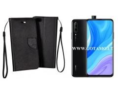 Manager dėklas Huawei P Smart Pro (2019) Huawei Y9 Prime mobiliesiems telefonams juodos spalvos