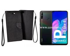 Manager dėklas Huawei P40 Lite E Huawei Y7P mobiliesiems telefonams juodos spalvos