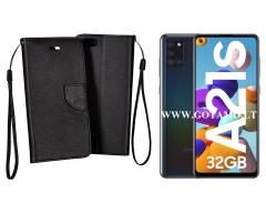 Manager dėklas Samsung Galaxy A21s telefonams juodos spalvos
