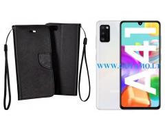Manager dėklas Samsung Galaxy A41 mobiliesiems telefonams juodos spalvos