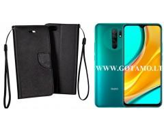 Manager dėklas Xiaomi Redmi 9 telefonams juodos spalvos