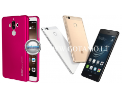 Mercury i-Jelly dėklas nugarėlė Huawei P9 Lite telefonui tamsiai rožinės spalvos