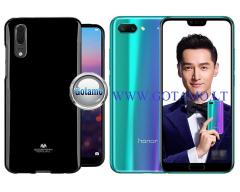 Mercury Jelly dėklas nugarėlė Huawei Honor 10 telefonui juodos spalvos