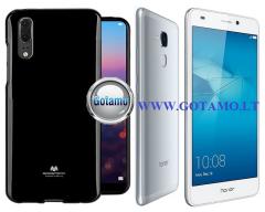 Mercury Jelly dėklas nugarėlė Huawei Honor 7 Lite telefonui juodos spalvos