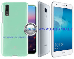 Mercury Jelly dėklas nugarėlė Huawei Honor 7 Lite telefonui mėtinės spalvos