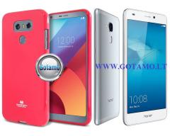 Mercury Jelly dėklas nugarėlė Huawei Honor 7 Lite telefonui tamsiai rožinės spalvos