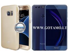 Mercury Jelly dėklas nugarėlė Huawei Honor 8 telefonui aukso spalvos