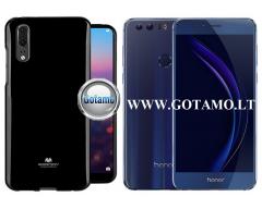 Mercury Jelly dėklas nugarėlė Huawei Honor 8 telefonui juodos spalvos