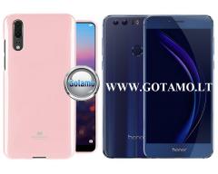 Mercury Jelly dėklas nugarėlė Huawei Honor 8 telefonui šviesiai rožinės spalvos