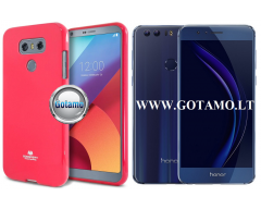 Mercury Jelly dėklas nugarėlė Huawei Honor 8 telefonui tamsiai rožinės spalvos