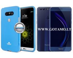 Mercury Jelly dėklas nugarėlė Huawei Honor 8 telefonui žydros spalvos