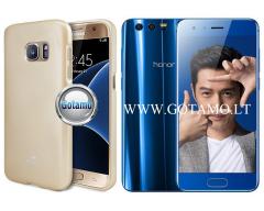 Mercury Jelly dėklas nugarėlė Huawei Honor 9 telefonui aukso spalvos