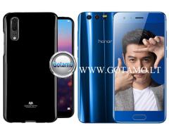 Mercury Jelly dėklas nugarėlė Huawei Honor 9 telefonui juodos spalvos