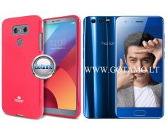Mercury Jelly dėklas nugarėlė Huawei Honor 9 telefonui tamsiai rožinės spalvos