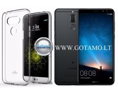 Mercury Jelly dėklas nugarėlė Huawei Mate 10 Lite telefonui skaidrus