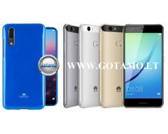 Mercury Jelly dėklas nugarėlė Huawei Nova telefonui mėlynos spalvos