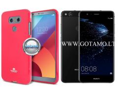 Mercury Jelly dėklas nugarėlė Huawei P10 Lite telefonui rožinės spalvos