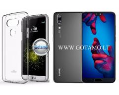 Mercury Jelly dėklas nugarėlė Huawei P20 telefonui skaidrus