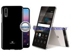 Mercury Jelly dėklas nugarėlė Huawei P8 telefonui juodos spalvos