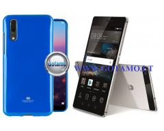 Mercury Jelly dėklas nugarėlė Huawei P8 telefonui mėlynos spalvos